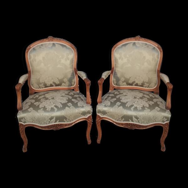Paire de fauteuil style Louis XV
