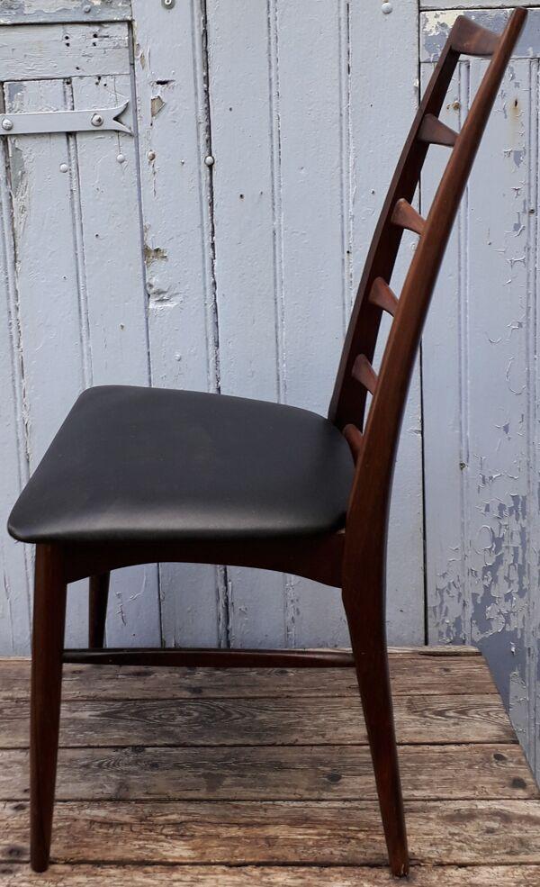 Chaise danoises en palissandre de rio, modèle liz du designer niels kofoed