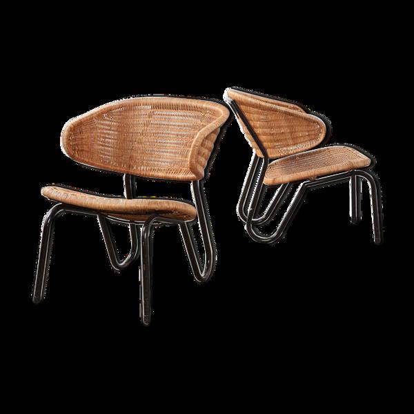 Paire de fauteuils Dirk van Sliedregt 568 pour Gebr Jonkers en 1954