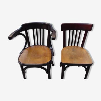 Chaise et fauteuil baumann