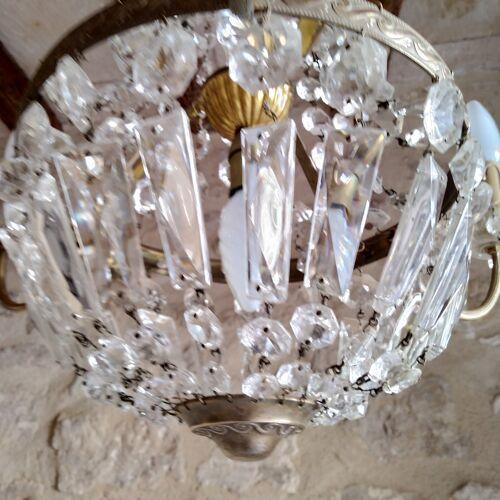 Lustre montgolfière en cristal