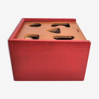 Jeu de cubes en bois
