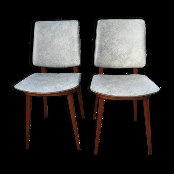 Ensemble de 2 chaises de style scandinave