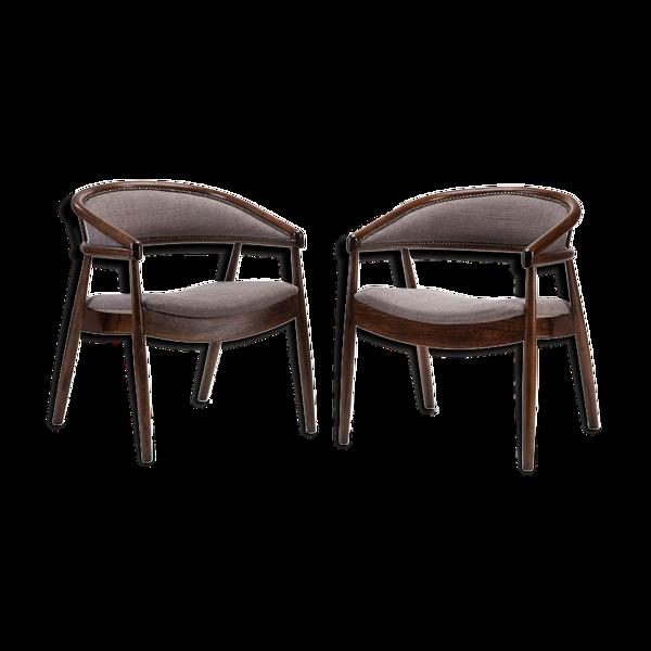 Selency Paire de fauteuils type B-3300