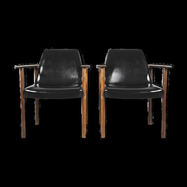 Paire de fauteuils par Sven Ivar Dysthe pour Dokka Møbler, années 1960