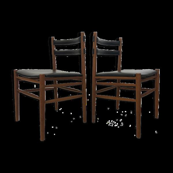 Selency Ensemble de chaises de salle à manger vintage design danois des années 1960 teck