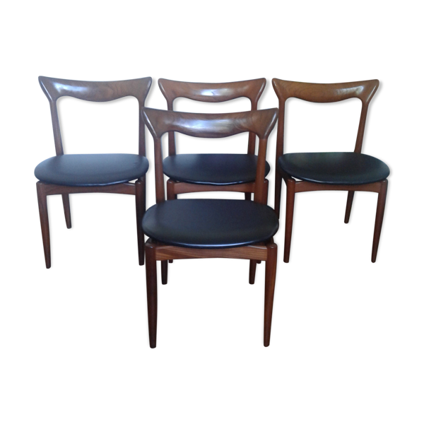 Set de 4 chaises de Henry Walter Klein pour Bramin
