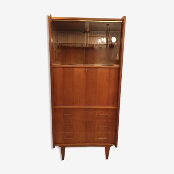 Vintage secretary chest of drawers 3 drawers showcase