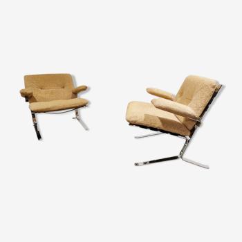 Paire de fauteuils Joker d'Olivier Mourgue années 1970