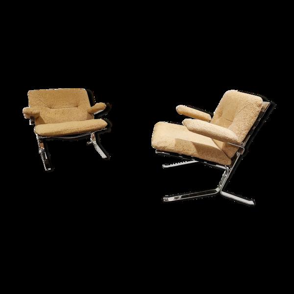 Selency Paire de fauteuils Joker d'Olivier Mourgue années 1970