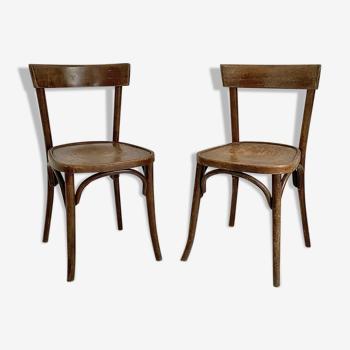 Paire de chaises bistrot vintage 50's