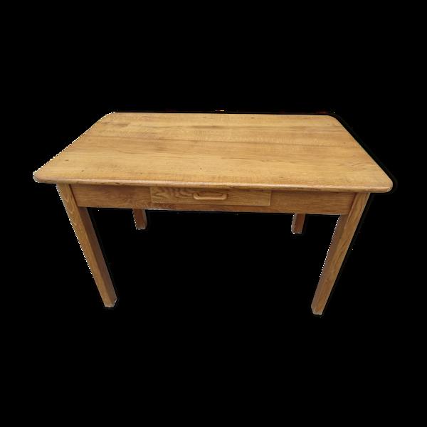 Table de ferme chêne massif 121x73