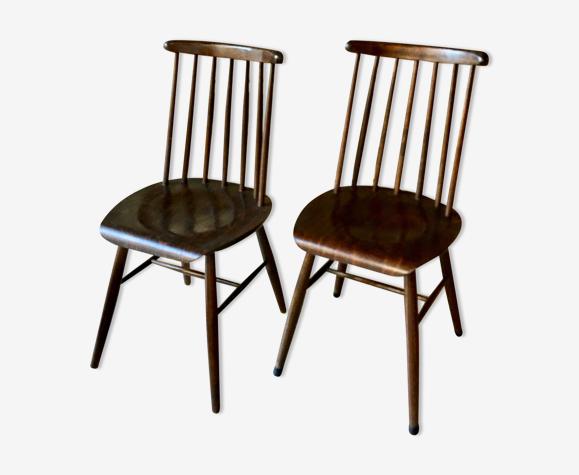 Paire de chaises françaises de chez Baumann