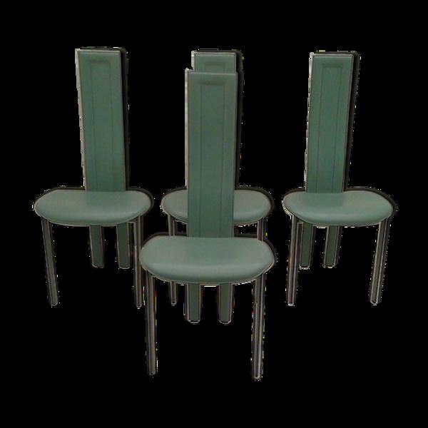Selency Set de 4 chaises de Salon Alice par Giorgio Cattelan pour Cattelan 1980