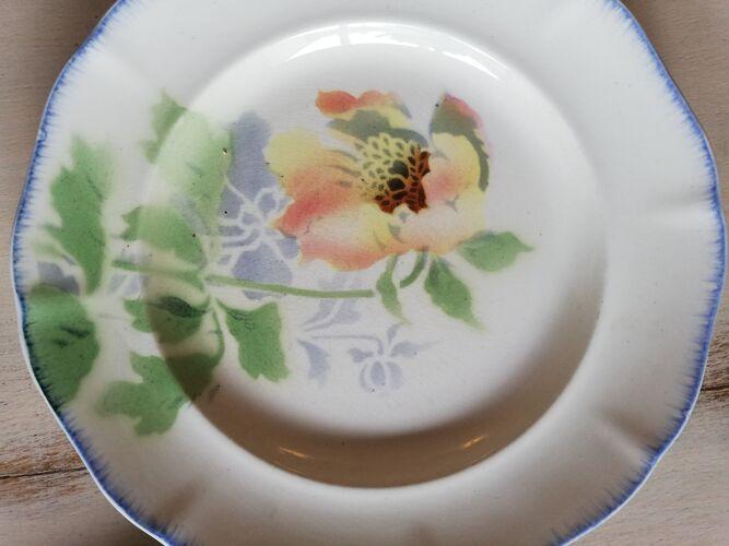 Assiettes vintage fleurs