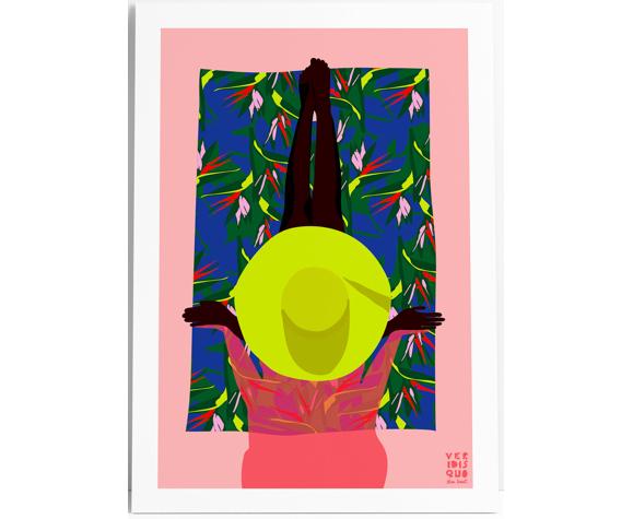 Bird of paradise  - illustration en édition limitée, format a3 (veridis quo, elisa brouet)
