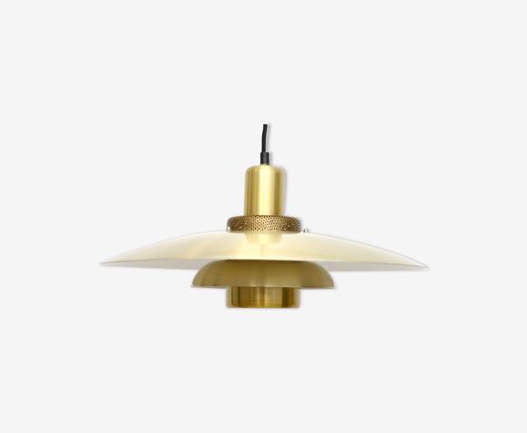 Lampe Lysaker vintage en laiton doré, danois des années 1970