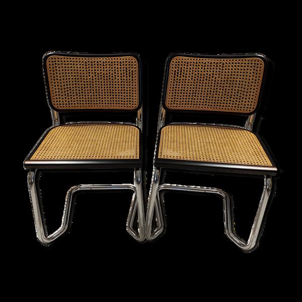 Selency Paire de chaises cannage 1992