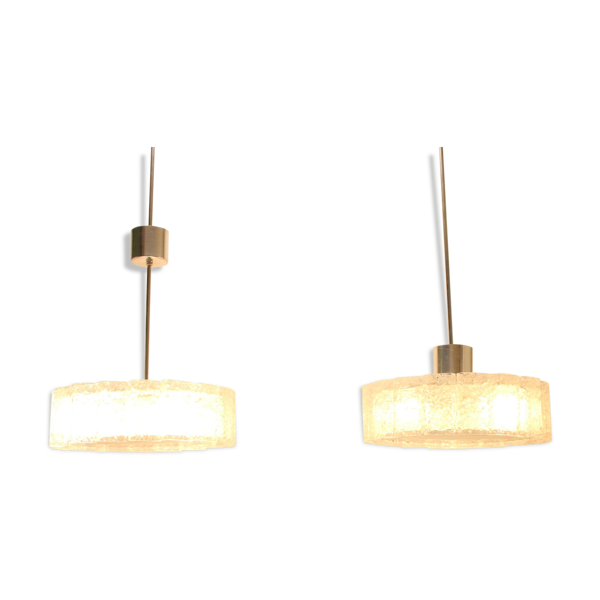 Suspension Doria Leuchten argent 40 cm