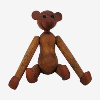 Teak monkey figurine Denmark 1970. no 2