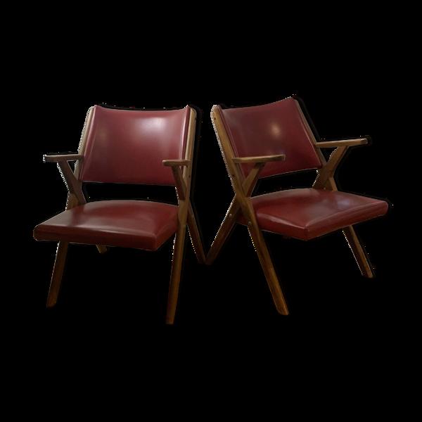Selency Paire de fauteuils Dal vera