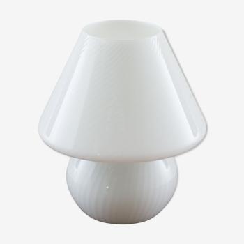 Murano glass swirl table lamp by Paolo Venini for Murano, 1970s