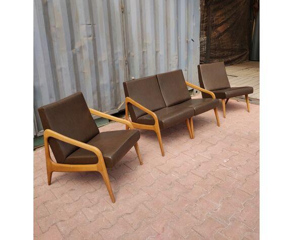 Canapé modulabe et son fauteuil marque Stella