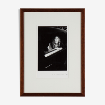 Ralph Gibson, photo silver print, signed, dated 1969 'Sheila in Car'
