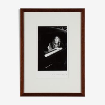 Ralph Gibson, photo tirage argentique, signé, daté 1969 'Sheila in Car'