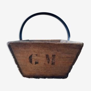Panier bois et métal