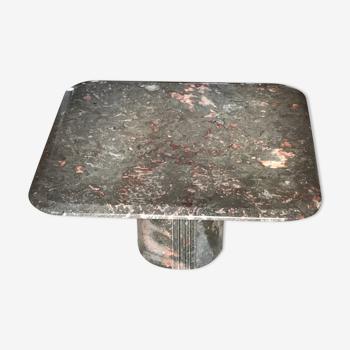Table basse marbre des années 80