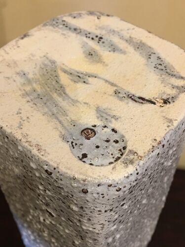 Vase à pans coupés en grès émaillé