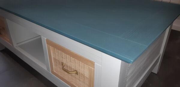 Table basse en bois 2 tiroirs