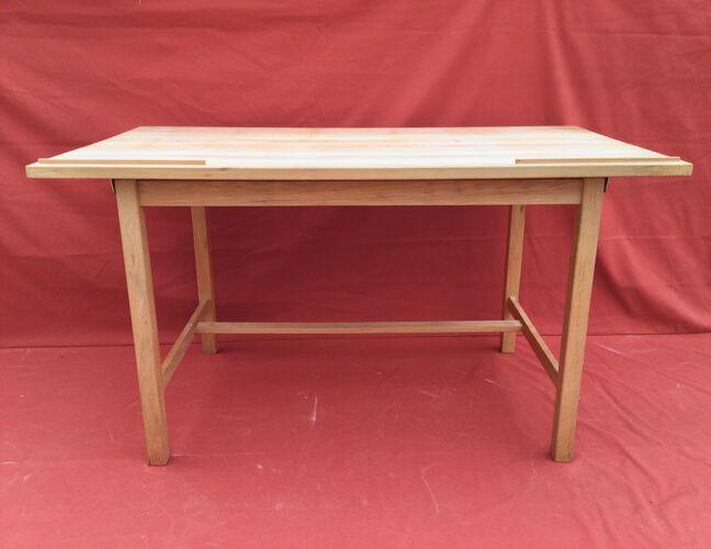Table d'architecte en hêtre