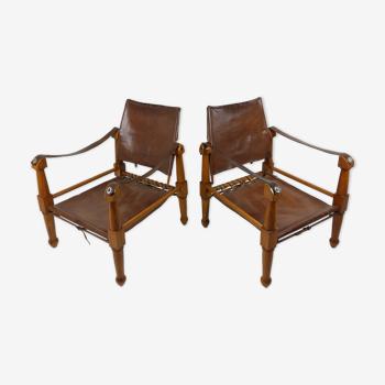 2 fauteuils safari 1940