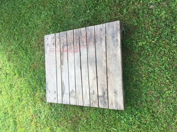 Table basse chariot industriel