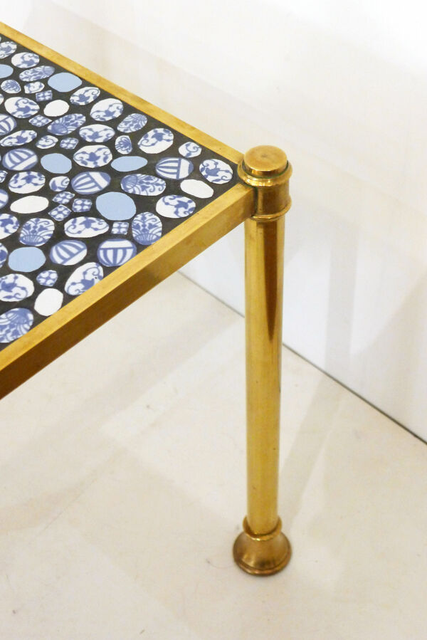 Table basse dorée & mosaïque