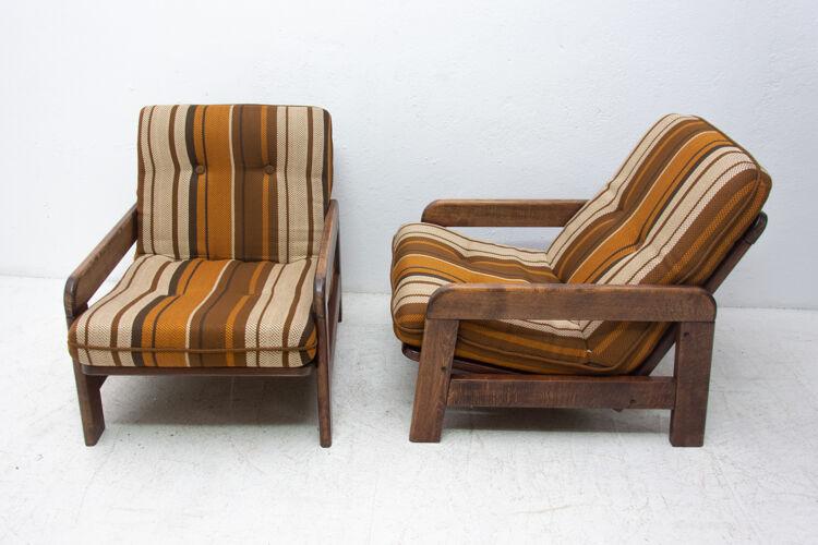 Salon de style scandinave vintage, années 1970