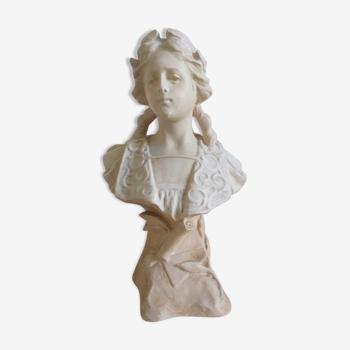 Buste ancien en plâtre début XXe, signé Hocbach 322 déposé