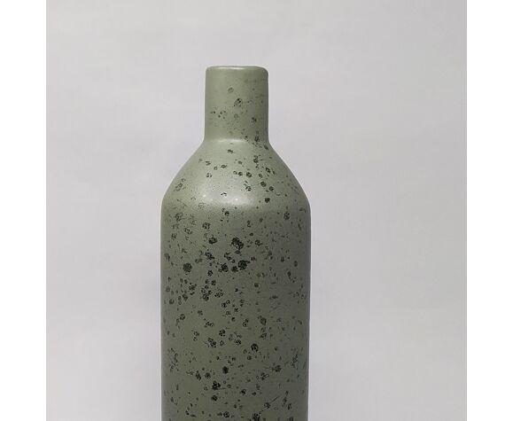 Paire de vases en céramique en couleur verte, fabriqué en Italie 1970