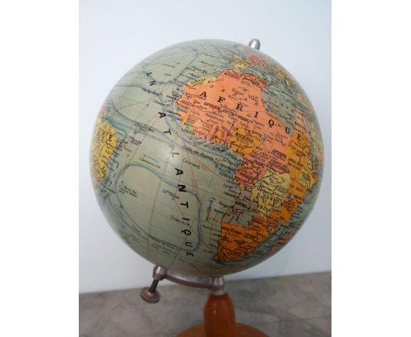 Globe terrestre Forest fin XIXème H39 cm