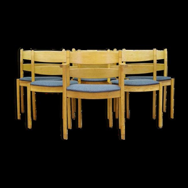Lot de 6 chaises de Kurt Ostervig 70/80
