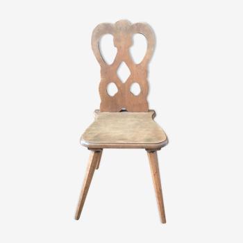 Chaise de chalet enfant ancienne