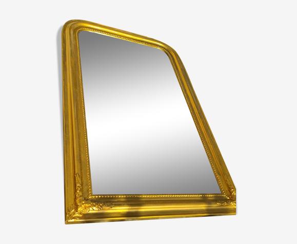 Miroir Louis-Philippe doré restauré - 105x65cm