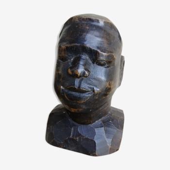 Tête de jeune africain vintage
