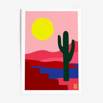 Tehuacan - illustration en édition limitée, format A3 Elisa Brouet
