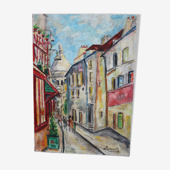 Tableau représentant Montmartre