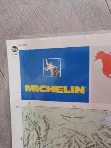 Carte du monde plastifié vintage michelin 1994 1995 143cm sur 100 cm