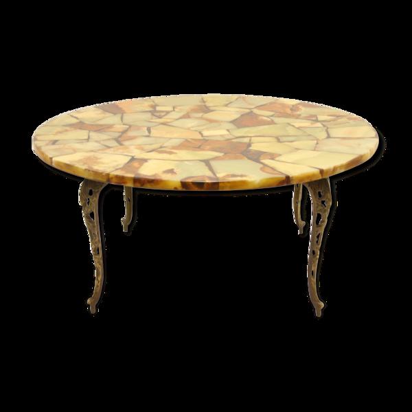 Selency Table basse marbre Rond années 1960