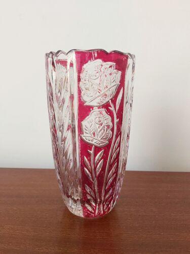 Vase en crystal de plomb par Anna Hütte 1970s Allemagne